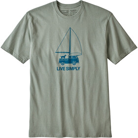 Patagonia Live Simply Wind Powered Responsibili-Tee Herr celadon